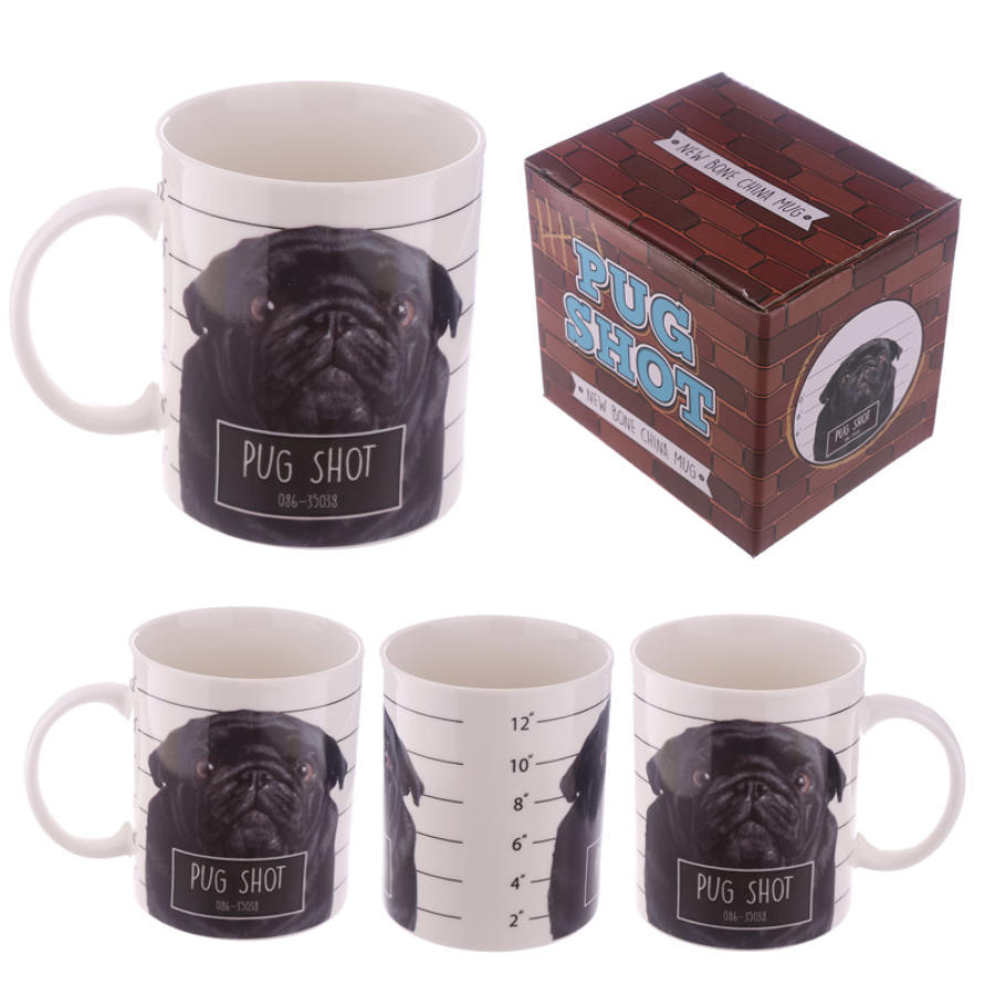 Pug Shot Bone China Mug