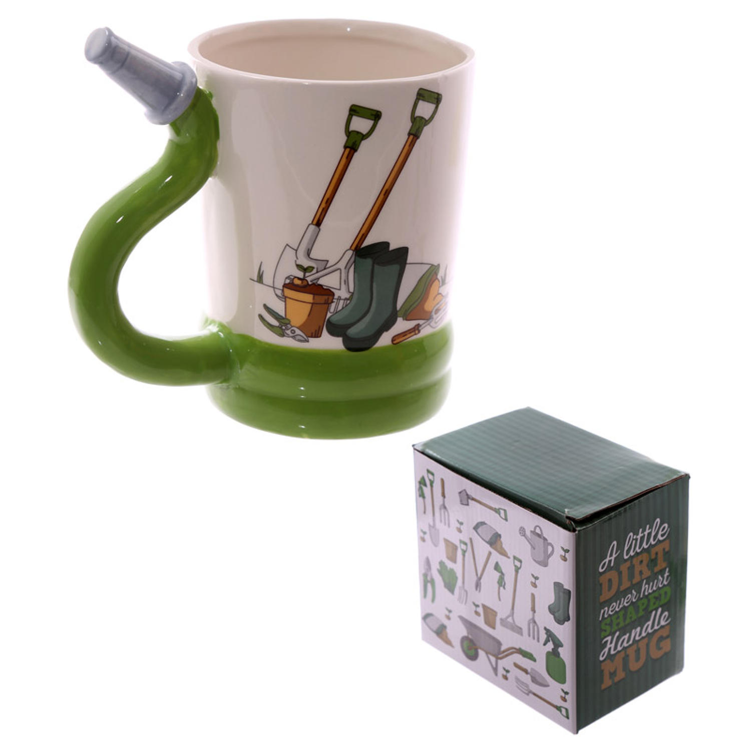 Hose Shaped Handle Ceramic Mug