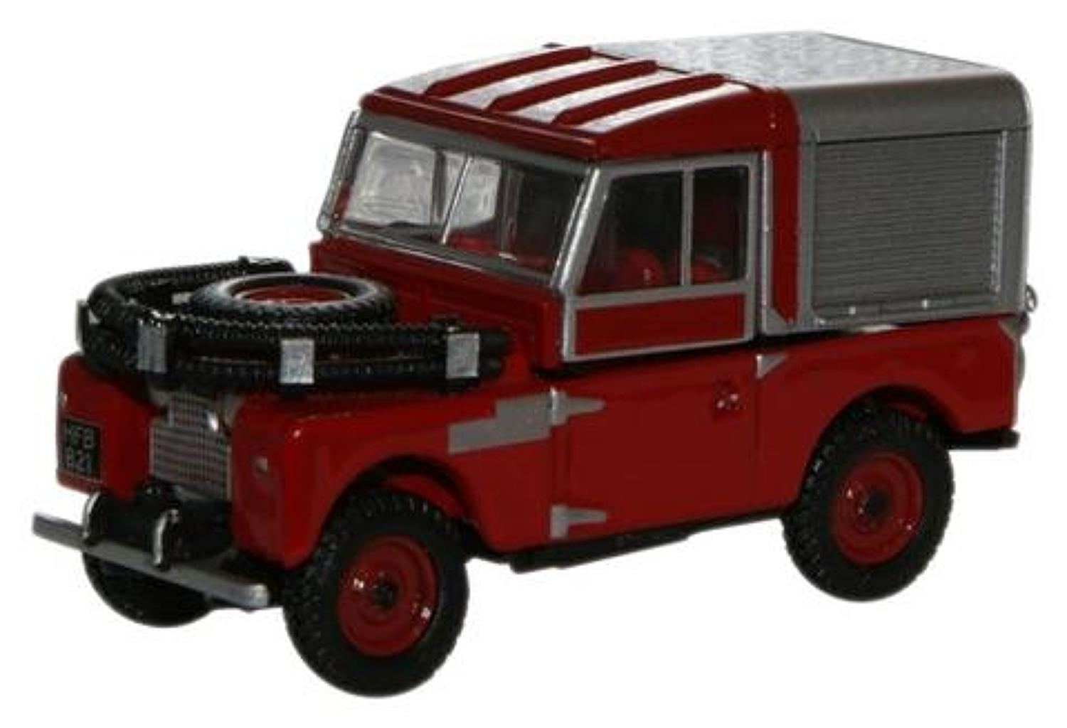 Red Land Rover 88 Fire